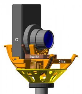 Kamera im Hochformat auf Sfiro mit Sfiro-Pod und Stativ