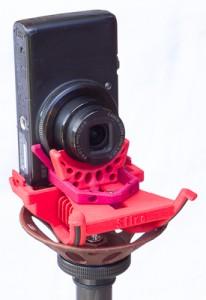 Sfiro mit Kamera im Hochformat